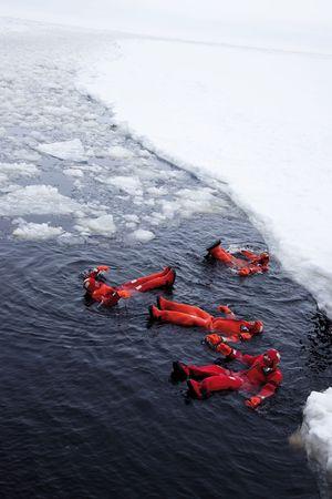 Als Erste bot einst die Sampo Passagieren die Gelegenheit zum Eisbad.