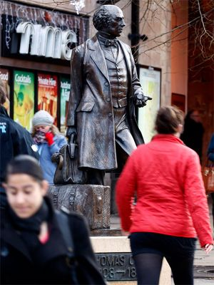 Statue von Thomas Cook