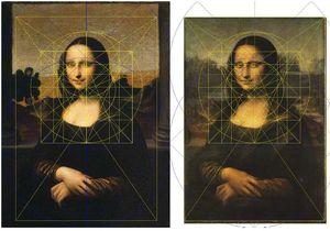 Geometrie: die Struktur von Der vitruvianische Mensch über den Mona Lisas