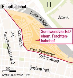 Das ehemalige Frachtenbahnhof-Gelände.