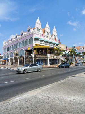 Die Hauptstadt Oranjestad.