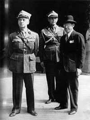 Retinger (rechts) mit Polens Exil-Premier Sikorski