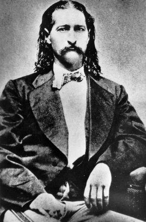 Porträt: Wild Bill Hickok (ca. im Jahr 1873).