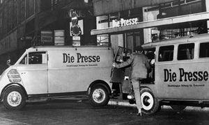 """Wiens """"Fleet Street""""  lag in den 1950er-Jahren am Fleischmarkt"""