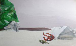 "Bahyt Bubikanova, Metaphysics series 2, Acrylic on canvas, 2013, 130 x 210 cm, Courtesy the artist and IADA, Kazakhstan; Sonderschau ""DIYALOG"": New Energies"