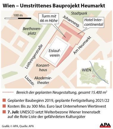 (c) APA Wien: Umstrittenes Bauprojekt Heumarkt