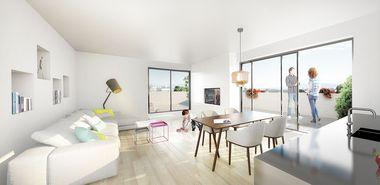 Consulting Company Visualisierung: Innenansicht einer Wohnung, ProjektSteinterrassen
