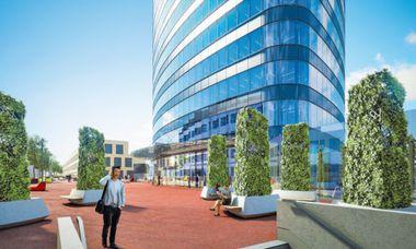(c) ZOOM visual project gmbh Der Wiener Orbi-Tower will auch kleineren Betrieben die Möglichkeit geben, ein Büro von morgen zu betreiben. Einzugstermin: Sommer 2017.