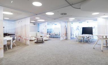 (c) Paul Ott Das Grazer Architekturbüro Innocad gestaltete das Creative Lab der ÖBB in Wien als offenen, flexiblen und multifunktionalen Raum.