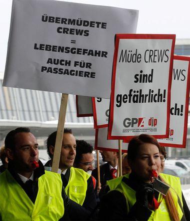 Demo in Wien-Schwechat