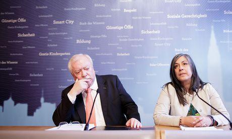 Michael Häupl und Maria Vassilakou. / Bild: (c) APA/GEORG HOCHMUTH