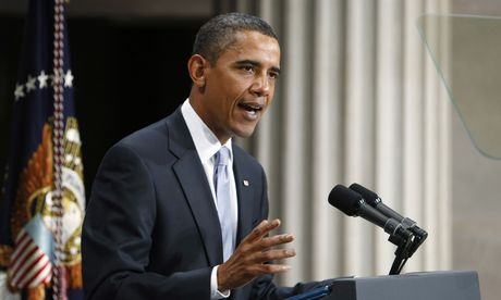 US Präsident Barack Obama bei einer Rede in der Federal Hall in der Wall Street  / Bild: (c) REUTERS (Larry Downing)