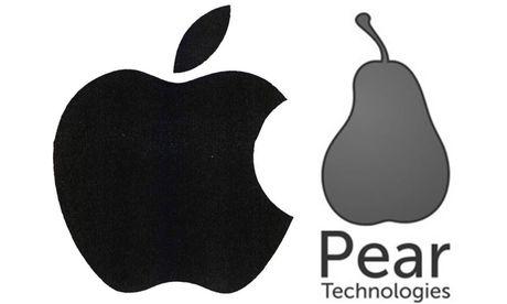 Apple (links) befürchtet laut EUIPO zu Recht eine Verwechslungsgefahr mit Pear Technologies (rechts) / Bild: (c) The Register