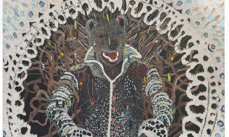 Der im Senegal geborene Omar Ba gehört mit seinen Bildern voll hybrider Wesen zu den wenigen Kunstmarktstars aus Afrika. / Bild: (c) Courtesy Galerie Daniel Templon