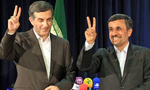 Esfandiar Rahim Mashaei und Mahmoud Ahmadinejad