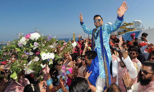 Eine Bollywood-Traumhochzeit im Mittelmeer