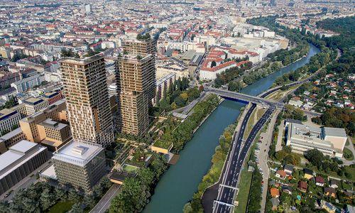 Drei Wohntürme ersetzen Wiener Zollamt