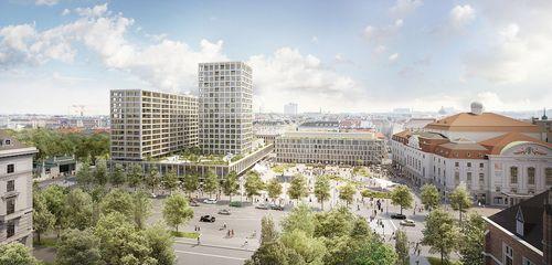 Ein Entwurf für das Bauprojekt am Wiener Heumarkt