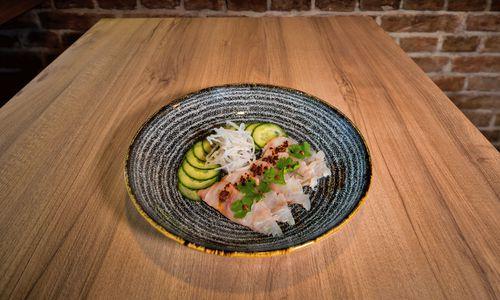 Fischfusion. Die Chefs des Dining Ruhm in Wien arbeiteten im Nobu, einer Nikkei-Keimzelle. Hier ihr Wolfsbarsch-Tiradito, also Sashimi auf Peruanisch.