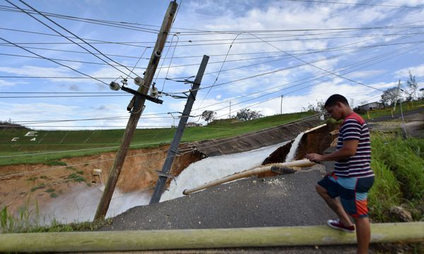 In Puerto Rico ist die Infrastruktur zerstört / Bild:  AFP (HECTOR RETAMAL)