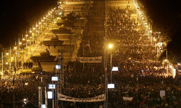 Proteste in Kairo am Dienstag / Bild: (c) AP
