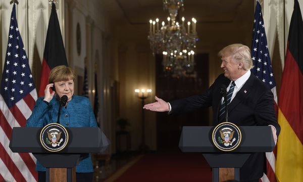 Merkel bei Trump in Washington. / Bild: (c) APA/AFP/SAUL LOEB