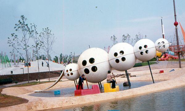 (c) Beigestellt Andere Welt. Ein Spielplatz, der heute undenkbar wäre: jener von der WIG 74 im Kurpark Oberlaa.