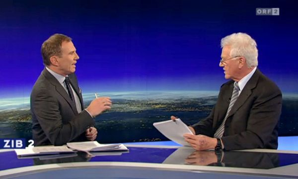 STRONACH IN ORF INTERVIEW ZU EUROFIGHTER-GEGENGESCHAeFTEN / Bild: APA/APA