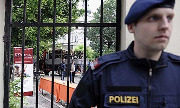 Archivbild: Die Polizei hat schon davor den Augartenspitz abgeriegelt / Bild: (c) APA (BARBARA GINDL)