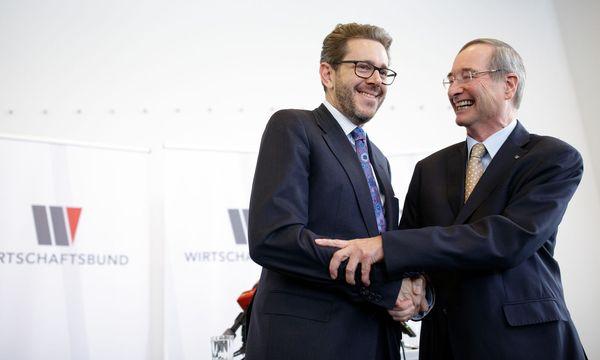 Wirtschaftsminister Mahrer übernimmt von Christoph Leitl.  / Bild: APA/GEORG HOCHMUTH