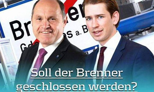 """Die Facebook-Seite veröffentlichte am Mittwoch die Umfrage """"Soll der Brenner geschlossen werden?"""". / Bild: (c) Screenshot Wir für Sebastian Kurz Facebook"""