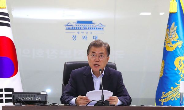 Moon Jae-in / Bild: APA/AFP/YONHAP/STR