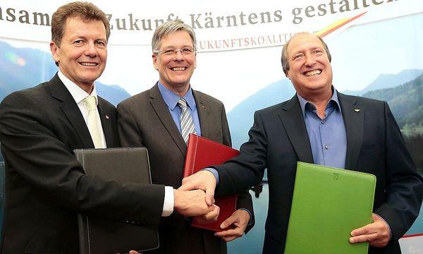 Waldner, Kaiser, Holub / Bild: APA/GERT EGGENBERGER