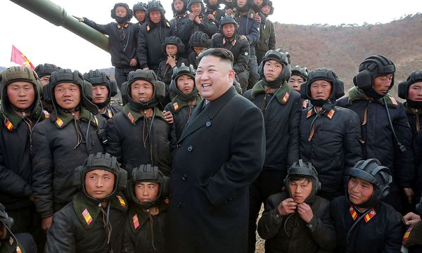 Nordkoreas Diktator Kim Jong-un bastelt an Atomraketen. / Bild: REUTERS