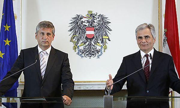 Michael Spindelegger und Wolfgang Faymann / Bild: (c) APA/BUNDESHEER/ANDY WENZEL (Bundesheer/andy Wenzel)