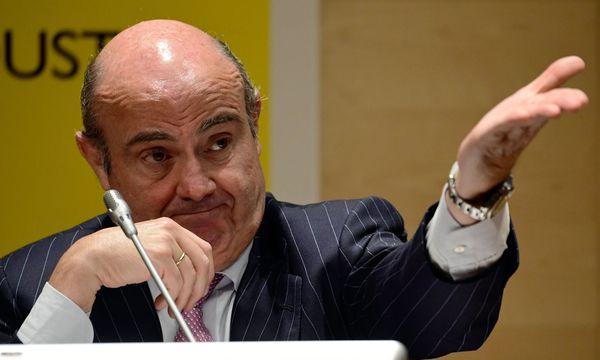 Wirtschaftsminister Luis de Guindos: Bankkunden haben nichts zu befürchten / Bild:  AFP (JAVIER SORIANO)