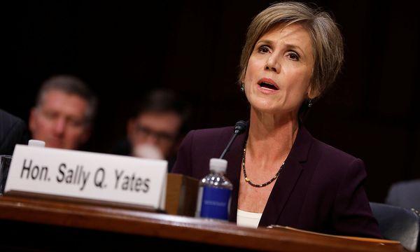 Sally Yates sagte vor dem Justizausschus des Senats aus. / Bild: REUTERS