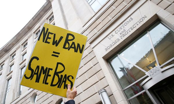 Demonstranten in Washington. / Bild:  REUTERS/Eric Thayer
