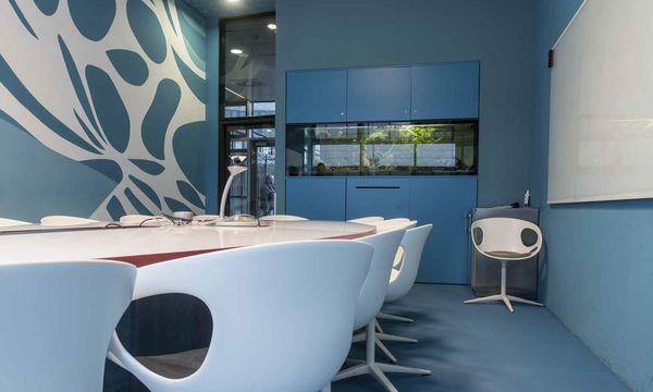 Maritimes Besprechungsflair bei Microsoft / Bild: Die Presse (Carolina Frank)