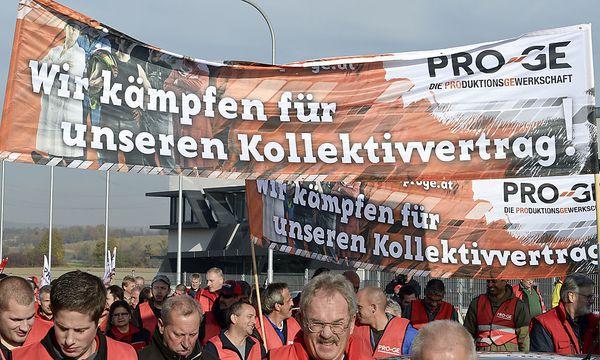 Protest der Gewerkschaft / Bild: APA/HERBERT NEUBAUER