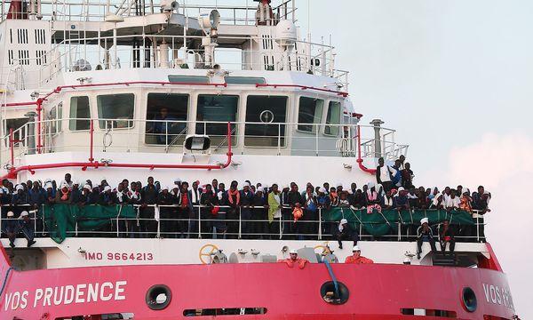 """Archivbild: Die """"Vos Prudence"""" der Ärzte ohne Grenzen  / Bild: APA/AFP/CARLO HERMANN"""