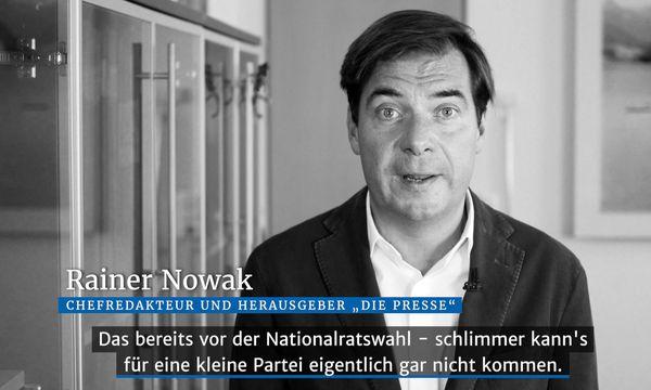 Rainer Nowak im Video-Kurzkommentar zum Thema die Grünen /