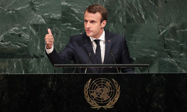 Emmanuel Macron / Bild: APA/AFP/GETTY IMAGES/Drew Angere