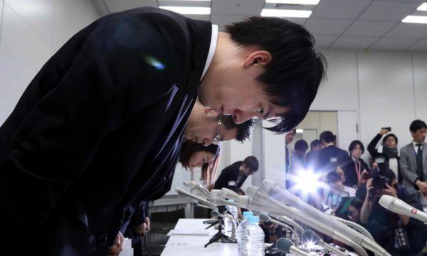 Coincheck-Manager nach dem Hackerangriff / Bild: (c) AFP (-)