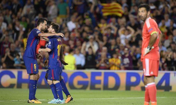 Barcelona jubelt, Buffon schaut zu / Bild: (c) APA/AFP/JOSEP LAGO (JOSEP LAGO)