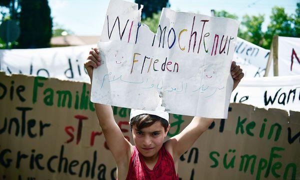 Flüchtlinge in Griechenland. / Bild: APA/AFP/LOUISA GOULIAMAKI