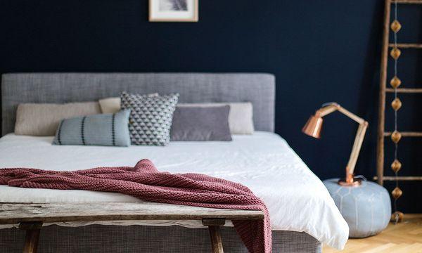 (c) Wiener Wohnsinn Bekenntnis zur Farbe. Eine bunte Wand macht Freude -  zu viel Farbe bringt Unruhe in den Raum.