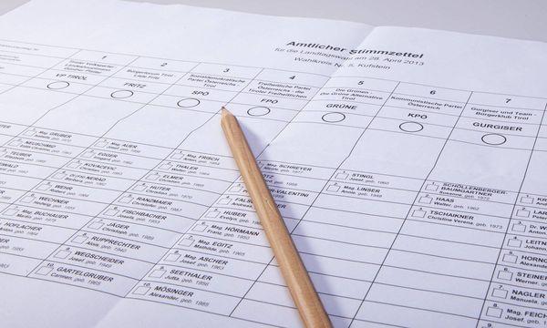 Archivbild: Stimmzettel der vergangenen Landtagswahl in Tirol / Bild: (c) imago