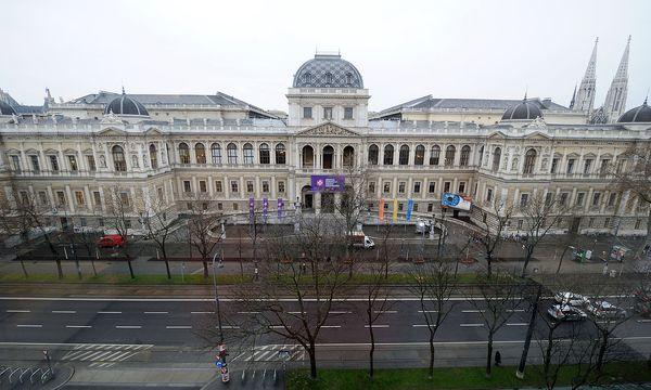 """Auch in der Uni Wien, im Audimax, fand eine """"Grasser-Veranstaltung"""" statt: eine Art Vorlesung, die die Enthüllung von heiklen Protokoll-Auszügen beinhaltete. / Bild: Foto: Fabry, Die Presse"""