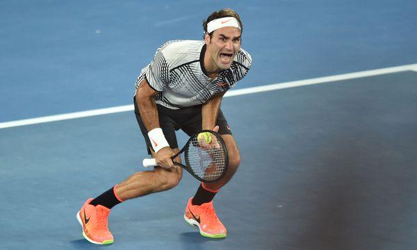Der so befreiende Augenblick, wenn Druck, Anspannung und Ungewissheit abfallen. Der Schweizer Roger Federer gewinnt die Australian Open 2017. / Bild: (c) APA/AFP/PETER PARKS